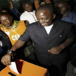 Joseph Kabila voting on October 29 2006