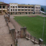 Alfajiri High School courtyard and soccer field(Bukavu,South Kivu,2004)