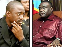 President Joseph Kabila and his nearest rival Jean-Pierre Bemba