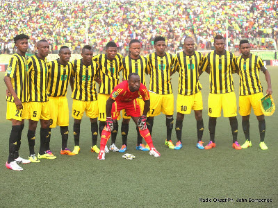 AS Vita before the game against Al Hilal at Stade Tata Raphael in Kinshasa on 7.27.2014