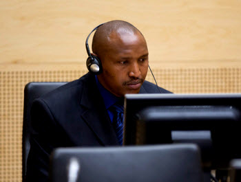 Bosco Ntaganda during first appearance at the ICC on 3.26.2013