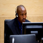 Bosco Ntaganda during his initial appearance before the International Criminal Court on 26 March 2013