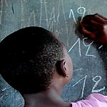 Former Congo soldiers/children now receive their lessons in the classroom