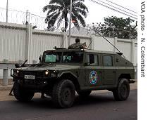 EUFOR troops patrolling Kinshasa