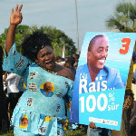 A supporter of President Joseph Kabila in Mbuji Mayi