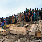 Bodies are buried in the village of Luhanga, North Kivu on 11.28.2016