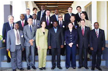 Joseph Kabila with members of the Security Council