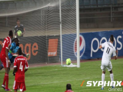 CS Sfaxien play against TP Mazembe in Rades, Tunisia
