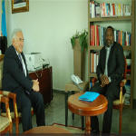 Dominique Strauss-Khan with Joseph Kabila in Kinshasa