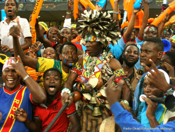 DR Congo fans at the 2013 Africa Cup of Nations in South Africa