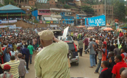 Tshisekedi rallies supporters in Bukavu, South Kivu Province