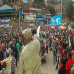 Etienne Tshisekedi rallies supporters in Bukavu, South Kivu Province