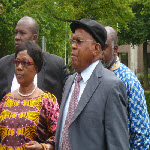 Etienne Tshisekedi with his wife Marthe Tshisekedi