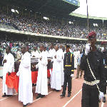 Cardinal Frederick Etsou memorial mass at the Martyrs' Stadium in Kinshasa