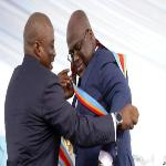 Felix Tshisekedi and Joseph Kabila during the swearing in ceremony
