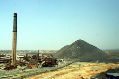 A general view of the Gecamines copper mine in the Democratic Republic of Congo's southern mining town of Lubumbashi