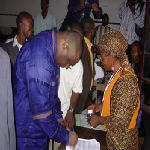 Jean-Pierre Bemba voting on October 29,2006