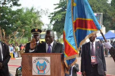 Joseph Kabila during his inauguration speech on Dec. 20, 2011