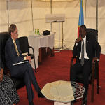 Joseph Kabila and Robert Zoellick in Goma
