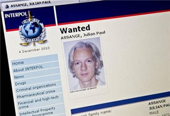 Julian Assange interpol alert