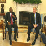 Joseph Kabila and George Bush in the Oval Office on 10.26.2007