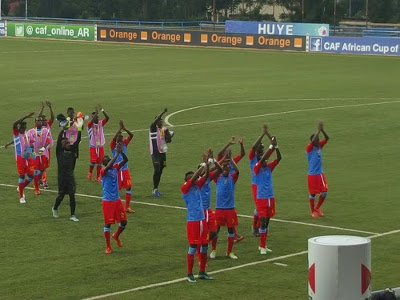 DR Congo Leopards celebrate after a 3-0 win against Ethiopia on 1.17.2016
