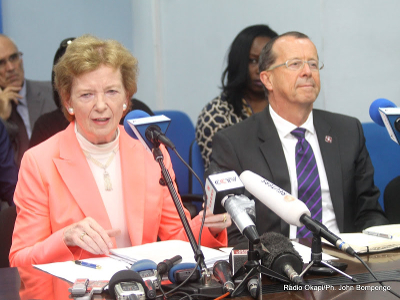UN Secretary-General's Special Envoy to the Great Lakes Mary Robinson and UN Secretary-General's Special Representative in the DRC Martin Kobler