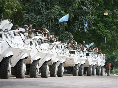 UN peacekeepers in the Democratic Republic of Congo (DRC)