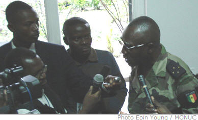 At the weekly MONUC press conference in Kinshasa on Wednesday 17 October 2007, MONUC force commander General Babacar Gaye reiterated MONUC's mandate, as the DRC government seeks to establish its authority in troubled North Kivu province.