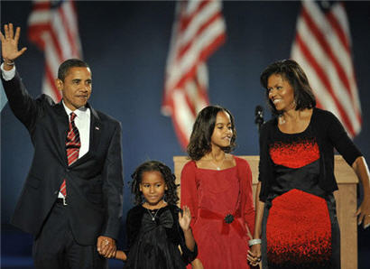 President-elect Barack Obama and his family