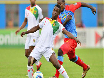 DR Congo Leopards play against Guinea on 2.3.2016