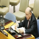 Special Representative Roger Meece briefs the Security Council on the situation in the DRC