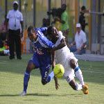 TP Mazembe's Deo Kanda during Champions League game against Berekum Chelsea