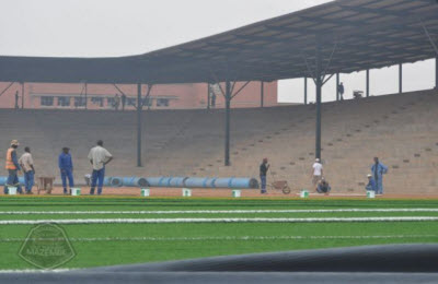 TP Mazembe's new stadium under construction