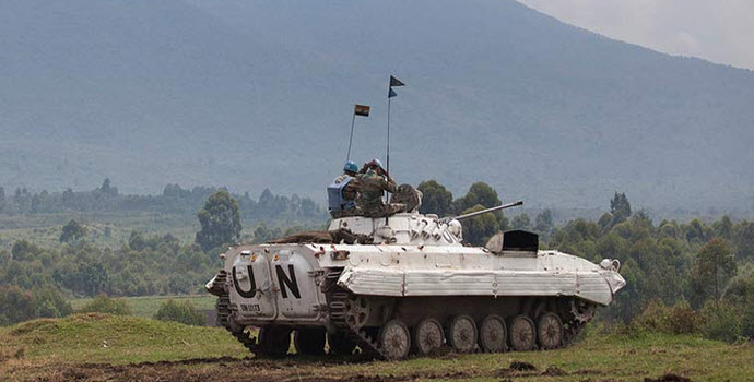 UN peacekeepers on the front lines in Kibati, Democratic Republic of the Congo (DRC)