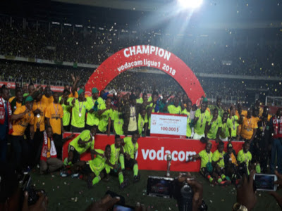 V. Club crowned Champions of Congo. Radio Okapi. Ph/Caniche Mukongo.