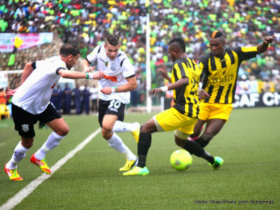 AS Vita playing against ES Setif in the first leg of the Champions League final first leg in Kinshasa on 10.26.2014