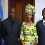 Pr�sidence de la R�publique Joseph and Olive Kabila celebrate after the decision by the Supreme Court on 11.28.2006